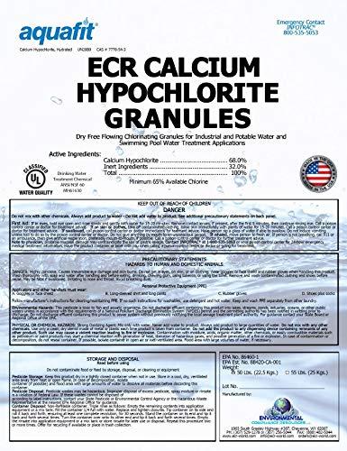 ECR Calcium Hypochlorite Granules - Pool Shock - 50 Pounds