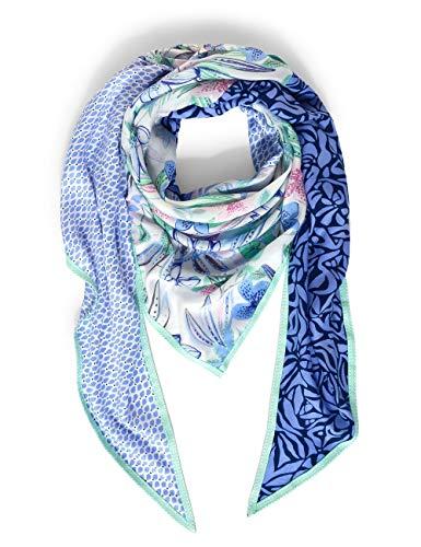 Street One Damen Halstuch Polyester Mode-Schal, Velvet Blue, A