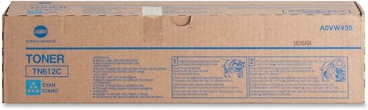 Konica Minolta TN612C A0VW435 Bizhub Pro C5501 C6501 Toner Cartridge (Cyan) in Retail Packaging