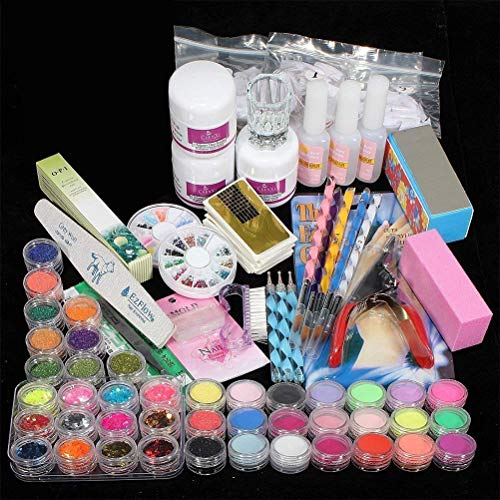 Eksesor Juego de decoración de uñas acrílicas, Kit Profesional de decoración de...