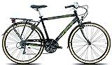 Legnano Ciclo 300 Sanremo, City Bike Uomo, Nero/Verde, 48