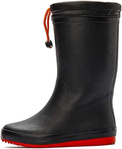 ZDNALS Stiefel de Lluvia Stiefel de Lluvia Impermeables hasta la Rodilla de Goma Antideslizantes para damen Opcional Stiefel de Lluvia (Farbe   schwarz, Größe   37)