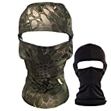 QHIU Tactique Masque Cagoules Ninja Capuche Camouflage Visage Protection Sport en Plein...