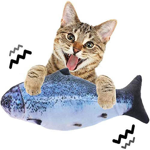 Flippity Fish, Elektrisches Katzenspielzeug, Simulation Fisch USB-Kabel, Katzenspielzeug Fisch Unterschiedliche Geschwindigkeit, Katzenminze Spielzeug, Interaktives Fisch Spielzeug Für Katzen 1PCS