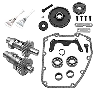 S&S Cycle Easy Start Gear Drive Camshaft Kit HP103 Compatible for Harley Davidson FLHR Road King 1999-2006