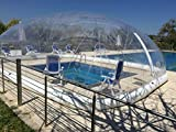 Mini Inflatable TPU Hot Tub Swimming Pool Solar Dome Cover Tent W/Blower & Pump (6x4x3m)
