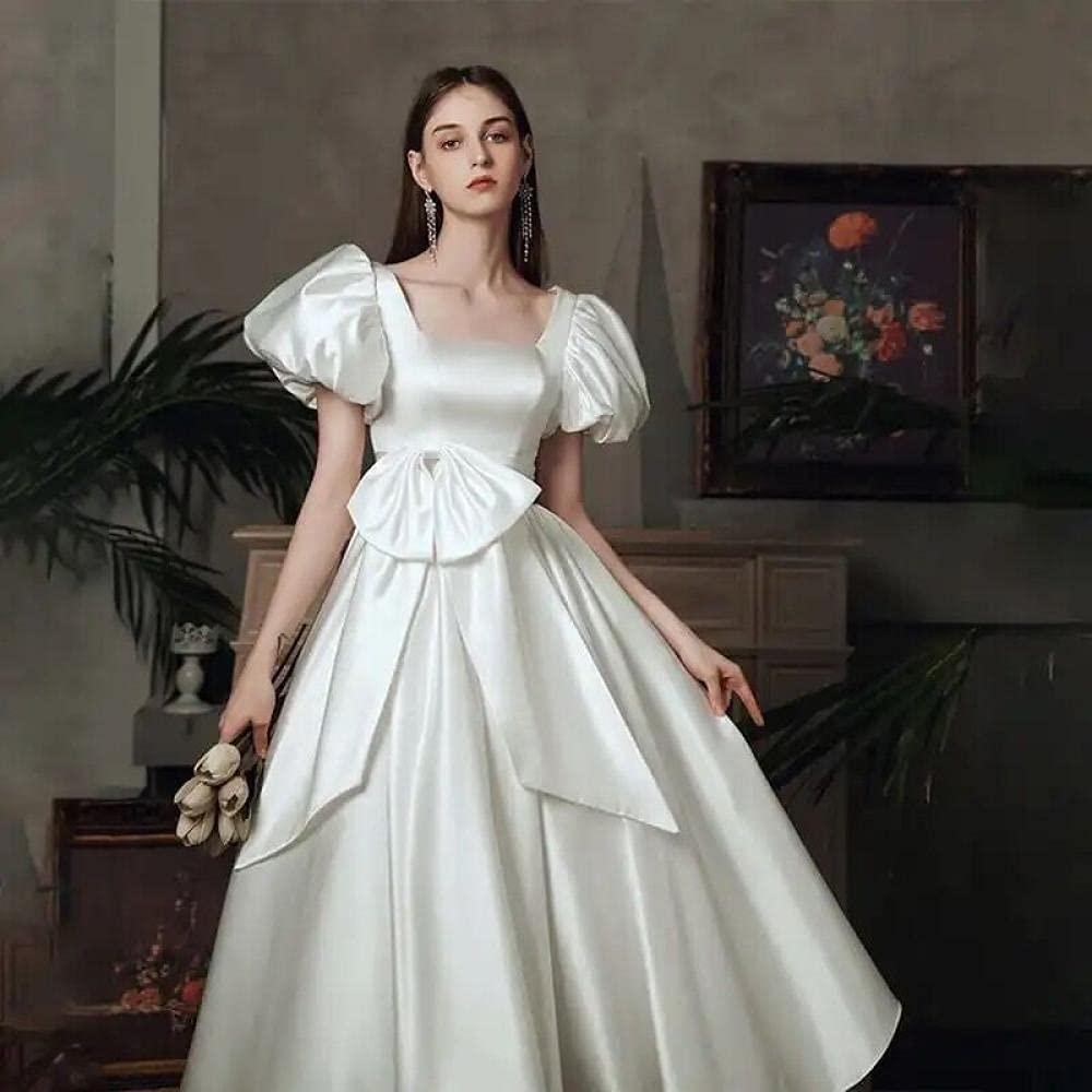 Uongfi Wedding Dresses for Bride Hepburn Tulsa Mall Gifts Princesa Feminino Estil