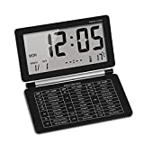 Mini Despertadores de Viaje,AZXES,Reloj Despertador Digital Pantalla LCD,Digital Alarma con Calendario de Temperatura para Viaje, Oficina, Hogar (Negro)