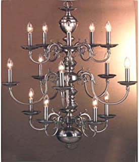 Classic Lighting 67115 G Williamsburg, Chandelier, 24k Gold Plate