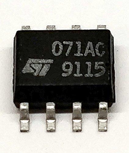 10pieza tl071acd Low Noise J de FET Single operational Amplifier, carcasa de VCC +/-18V   So de 8