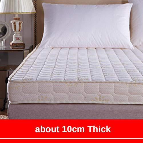 fahua King Size Bed High-density Memory Foam Mattress 1.35 Meters Tatami Mattress 1.5m1.8m Thick Folding Foam Cushion-90x200cm_White 10cm