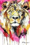 NA/ Pintar por números León de Color DIY Pintura al óleo pintadas a Mano Pintura preimpreso Lienzo Pintura acrílica Set Adulto Principiante Pintura hogar decoración 40x50cm sin Marco