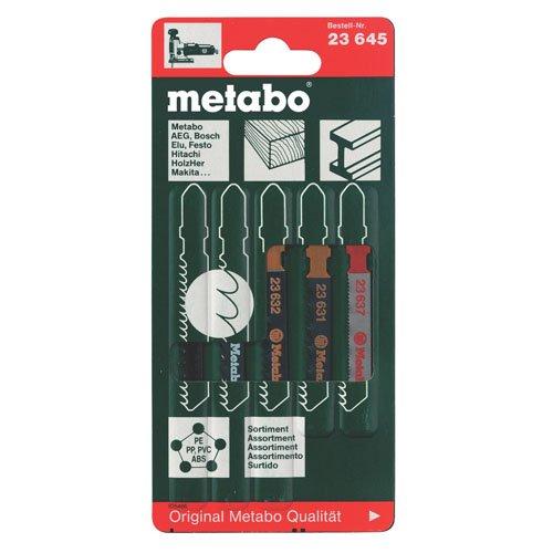 Metabo 623645000 Jig Saw Blade Assortment, 5 Piece, Green