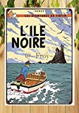 Froy The Adventures of Tintin The Black Island (L'Ile Noire) Wall Tin Sign Retro Iron Poster Painting Plaque Metal Sheet Vintage Personalized Creativity Decoration Crafts for Cafe Bar Garage Home