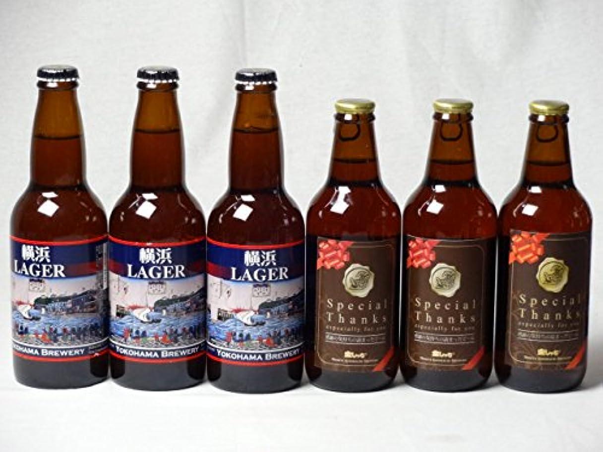 松の木接地定期的なクラフトビールパーティ6本セット IPA感謝ビール330ml×3本 横浜ラガー330ml×3本