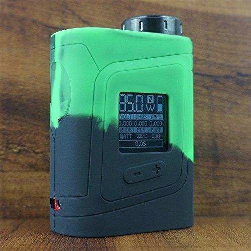 ModShield for SMOK AL85 Baby Alien 85W TC Silicone Case ByJojo Cover Sleeve Skin Wrap Case (Green/Black)