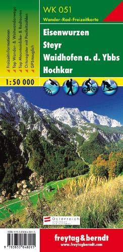 WK 051 Eisenwurzen - Steyr - Waidhofen a.d. Ybbs - Hochkar, Wanderkarte 1:50.000: Wandel- en fietskaart 1:50 000 (freytag & berndt Wander-Rad-Freizeitkarten)