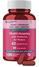 Carbamide Forte Multivitamin Tablets for Women with 43 Ingredients -100 Veg Tablets