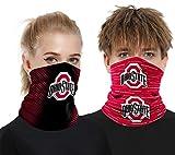 2 Pcs Face Shield Bandanas Neck Gaiter Mask Tube Windproof Seamless Face Cover for Men Fans