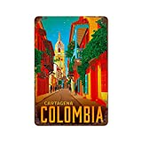 Gearsly Cartagena Kolumbien Tour Poster Vintage Blechschild