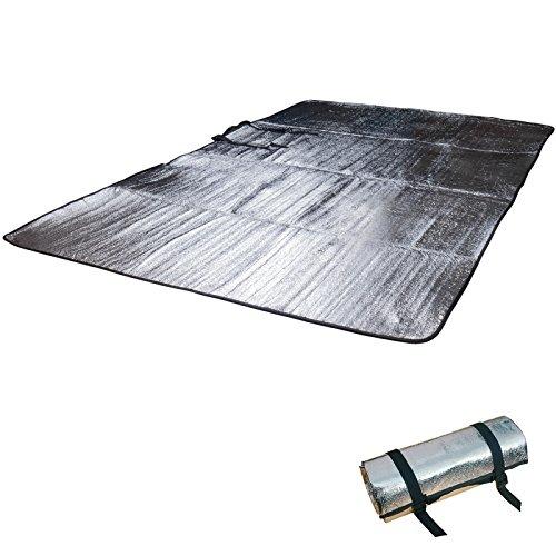 Outdoor Alu Isomatte Doppel Alumatte Isoliermatte 2 Personen Thermomatte 200 x 120 cm 240 g