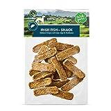 Irish Pure Tiras de Salmón con Algas de Kelp y Cúrcuma - Tiras de Salmón con 90% de Pescado, Perro de Entrenamiento, Sin Grano, Recompensa para Perros, Snack Orgánico 100% Natural, Bocadillo - 150g