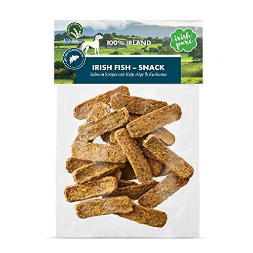 Irish Pure Salmon Stripes mit Kelp-Alge & Kurkuma - Lachsstreifen mit 90% Fisch, Training Hund, Getreidefrei, Hunde Belohnung, 100% Natürlicher Snack, Hundeleckerli, Gesunder Hundesnack - 150g