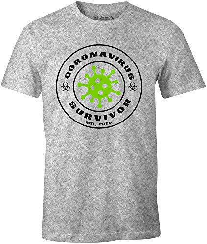 Ink Trendz Bio-Hazard Virus Survivor est. 2020 Funny Short Sleeve T-Shirt Heather Grey (3X-Large)