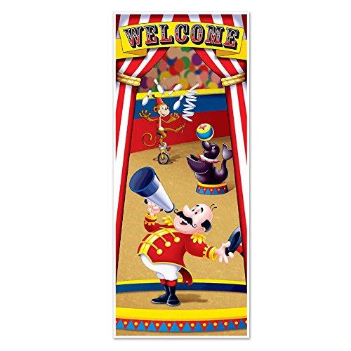 Circus Tent Plastic Door Cover Decoration - 76 cm x 183 cm - Party Decorations