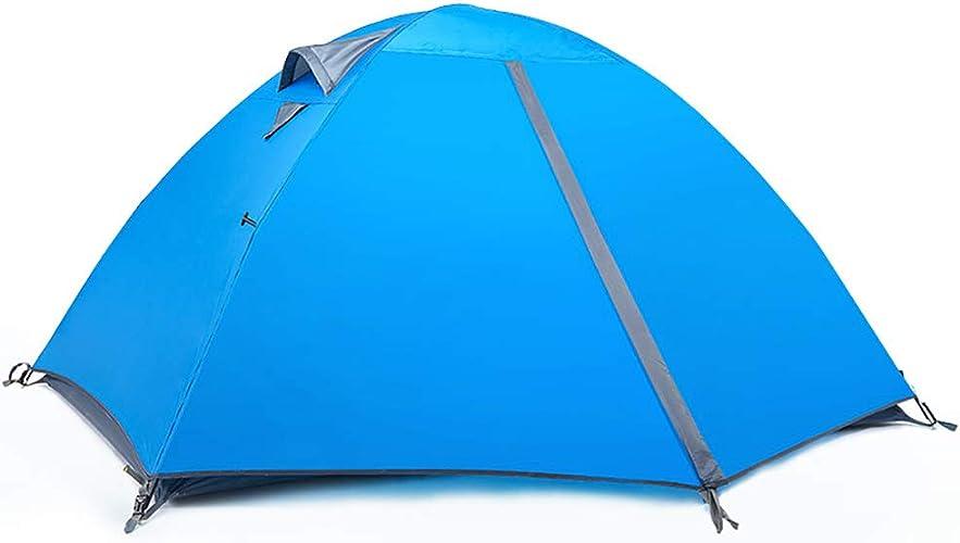 YTBLF La Double Tente Camping en Plein air Couple, la Tente Camping épaissie Anti-tempête, Le Store portatif Peut être pliée immédiatement avec Le Store avec Sac
