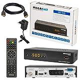 MEGASAT HD 390 DVB-S/S2 - Ricevitore satellitare digitale DVB-S/S2, cavo HDMI con funzione Ethernet e connettori dorati (HD Ready, HDTV, HDMI, SCART, USB 2.0, uscita audio digitale coassiale)