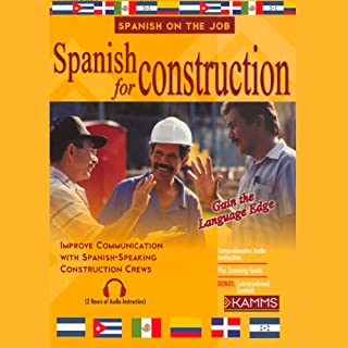 Spanish for Construction audiobook cover art