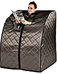 Sauna Portable Infrared FAR Carbon Fiber Panels - Wired Remote Control - Max Heat 140 Degrees - Heated Foot Pad - Rejuvenator Improved Model SA6310-1A