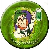 Happy St Patrick's Day Round Metal Tin Sign...