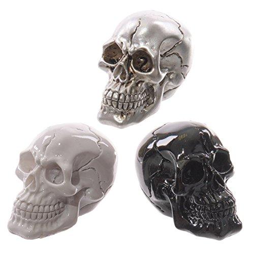 Lot de 3 petits crânes décoratifs