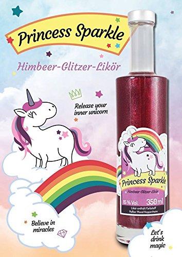 Princess Sparkle Himbeer-Glitzerlikör 350ml - 2