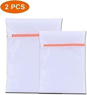 AB 2PCS Laundry Bra Lingerie Mesh Wash Bags, 1 Large, 1 Medium for Delicates with Premium Zipper, Travel Storage Organize Bag, Clothing Washing Bags for Laundry, Blouse, Bra, Hosiery, Stocking