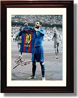 Framed Lionel Messi Autograph Replica Print - #10 Jersey - Spanish Club Barcelona