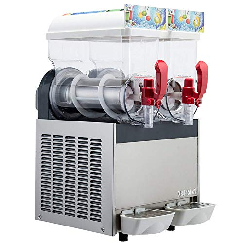 Kolice 2x15L Panzer Gewerbe Slushie-Maschine,gefrorene Slush-Maschine,Sommergetränk Maschine herstellen,Slushie-Maschine, slush maschine,Slush-Eis-Maschine,Slush Eis Maker