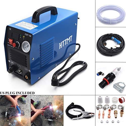 HTTMT- 50 AMP Plasma Cutter CUT50 Welding Cutting Machine Digital Inverter With Pressure Gauge Display 110V or 220V Dual Voltage US/CANADA [P/N: ET-CUT-50]