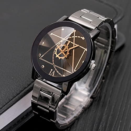 Msltely Espléndido Reloj de Lujo Original Reloj Reloj de Hombre de Acero Inoxidable Reloj Relojes de Cuarzo Reloj Relogio Masculino Relojes para Hombre (Color : Women Black)