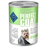 Blue Buffalo True Solutions Perfect Coat Natural Skin & Coat Care Adult Wet Dog Food, Whitefish 12.5-oz cans (Pack of 12)