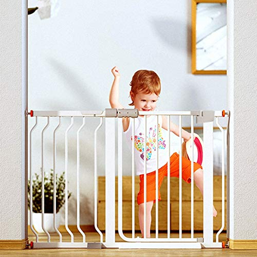 Read About WUFENG-Baby Gate,Auto-Close Safety Gate Metal Expandable Baby Pet Gate with Pressure Moun...