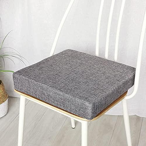L.TSA Cuscino per Cuscino per Sedia da Giardino, per Giardino di casa, 45 x 45 50 x 50 cm, Cuscino per Sedia da Pranzo, Cuscino per Sedile Antiscivolo per Patio Esterno (45 * 45 * 5 cm, Grigio)