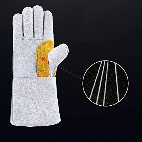 TYXHZL Industriële Handschoenen Open haard, Fornuis, Oven, Grill, Werken, Grill, Mig, Pan, Dierenbehandeling, Extreem Hittebestendige Brandhandschoenen, Lang, Dik, 35 Cm