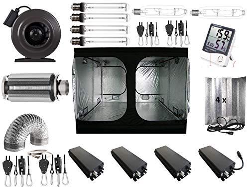 Nito GmbH Growbox Komplettset 400 W / 600 W NDL 200x200x200 cm Grow VSG MH (4 x 660 Watt dimmbar)