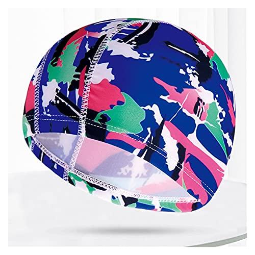 QWSX Bonnet de Bain Multi Couleurs Modèles Hommes Femmes Tissu Natation Cap Unisexe Adultes Piscine Piscine Plongée Sports Élévers Élastic Caps Casquettes Turban Confortable et Doux (Color : 27)