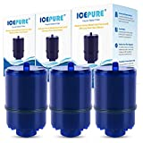 ICEPURE RF-9999 Faucet Water Filter Repacement for Pur RF9999 RF3375 FM2500V FM-3700 PFM450S PFM350V PUR-0A1 Classic Faucet Mount Filter Filtration System (Pack of 3)