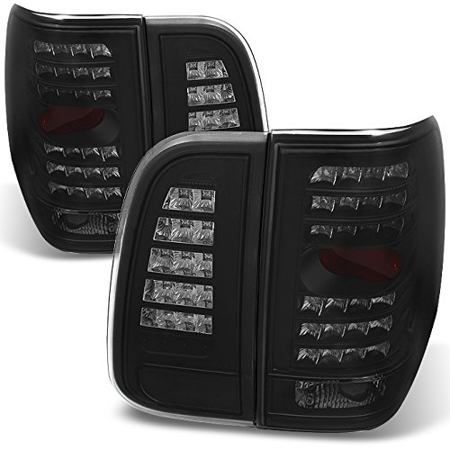 For Lincoln Navigator Black Smoked LED Tail Lights Repalcement Driver Left + Passenger Right Side Pair