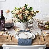 Porzellan Geschirrset 24 tlg. Svea, Weißes Geschirrservice für 6 Personen aus Fine Bone, skandinavisches Design - 6